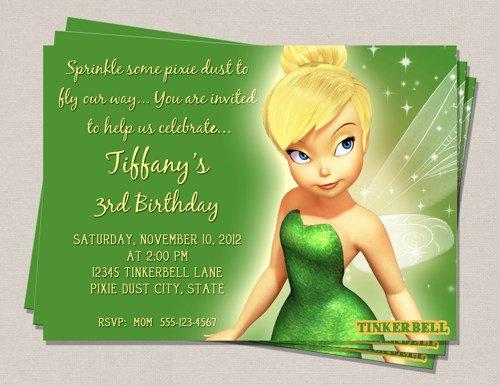 Tinkerbell Invitation Free