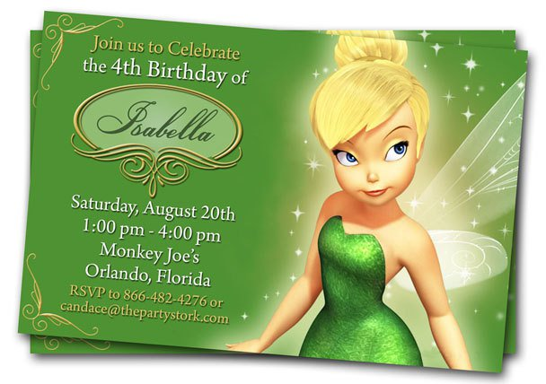 Tinkerbell Invitation Free Template