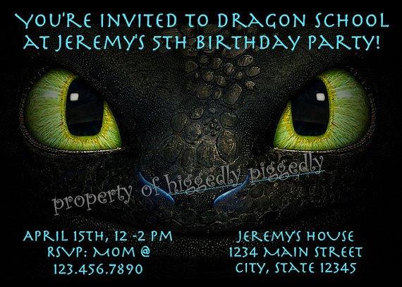 Toothless Birthday Invitation