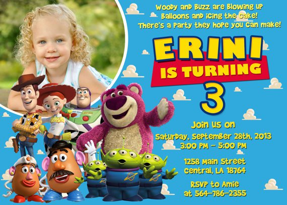 Toy Story Birthday Invitations Etsy