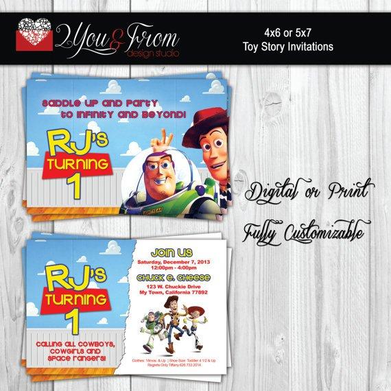 Toy Story Invitations Etsy