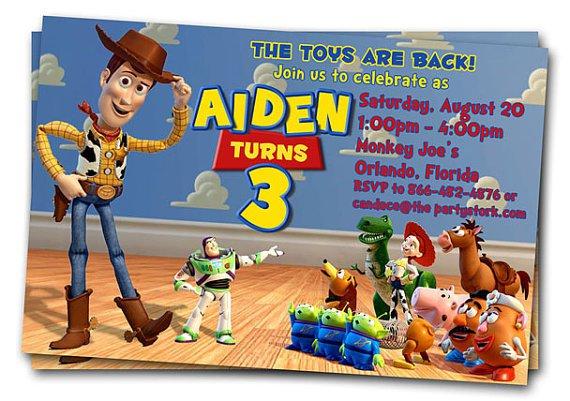 Toy Story Party Invitations Etsy