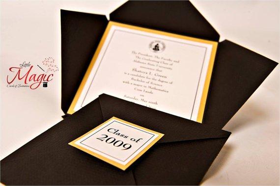 Traditional High School Graduation Invitations