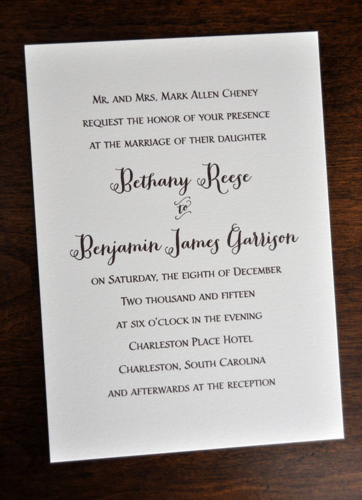 Traditional Wedding Invitation Wording