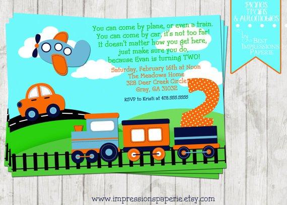 Train Birthday Party Invitations Free