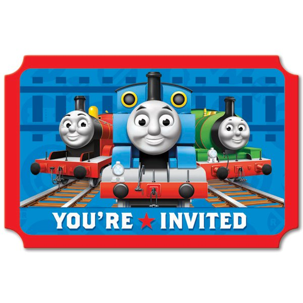 Train Birthday Party Invitations Printable