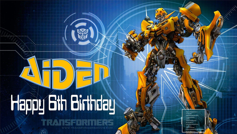 Transformers Custom Invitations