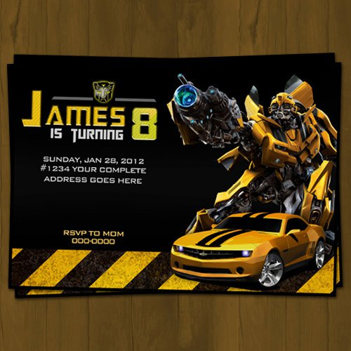 free transformers invitations template