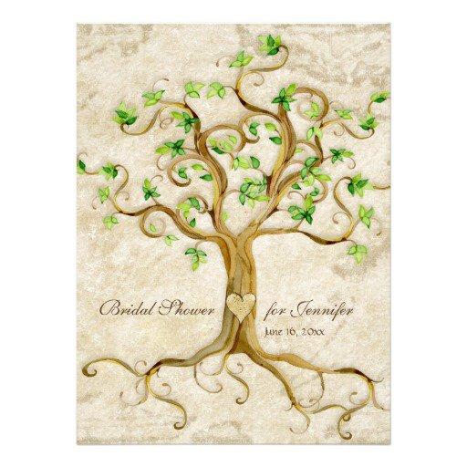 Tree Bridal Shower Invitation Templates