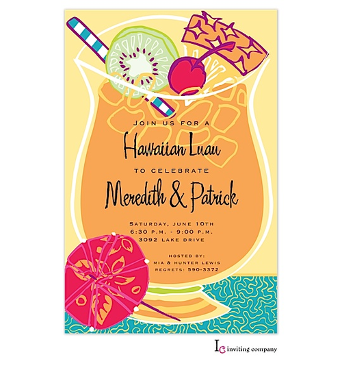 Tropical Luau Party Invitation