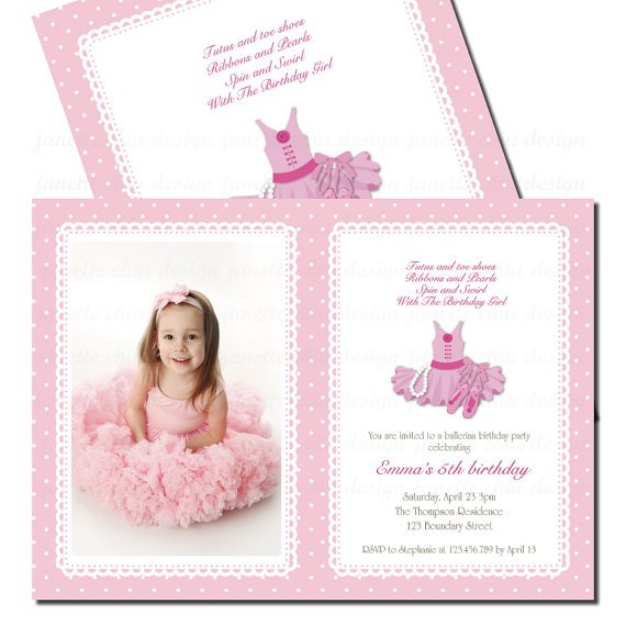 Tutu birthday party invitations tutu birthday party invitation wording 570 x 570 filmwisefo Image collections