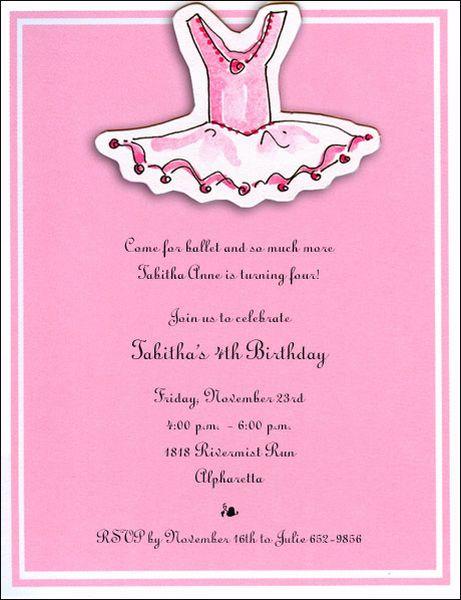 Tutu Party Invitations