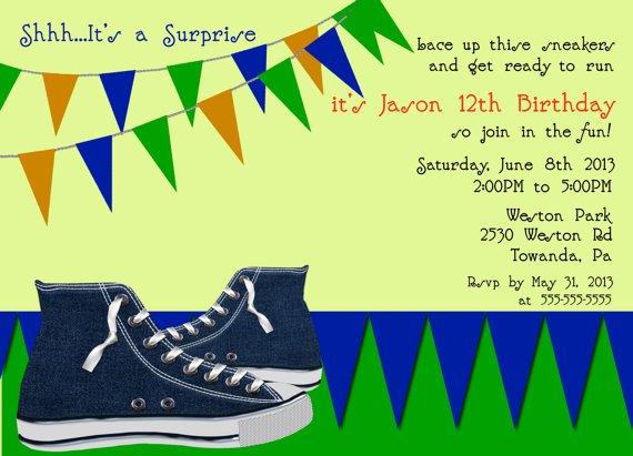Tween Boy Birthday Invitations