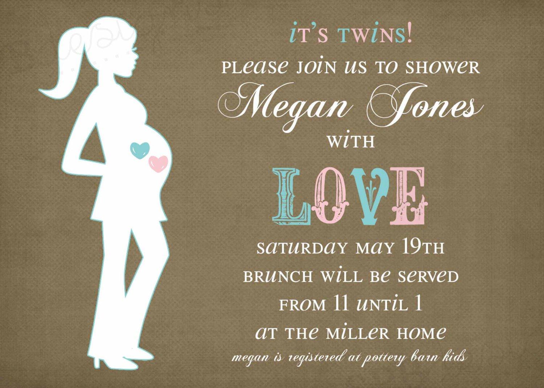 Twin Boy Shower Invitation Wording