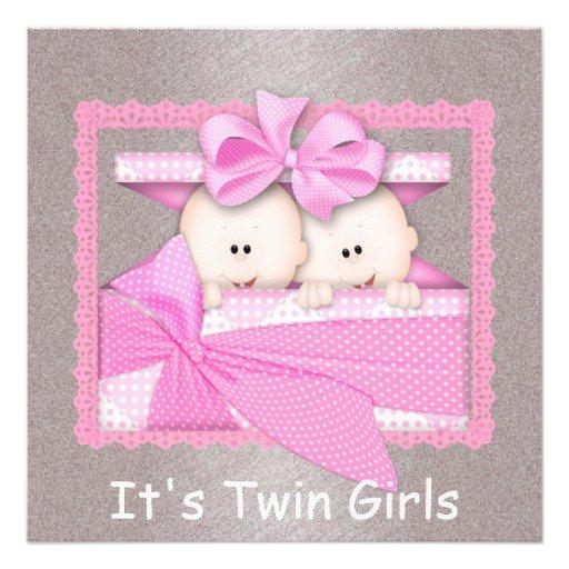 Twin Girl Shower Invitations