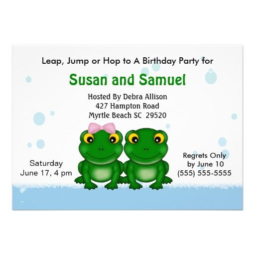Twin Girls Birthday Invitations