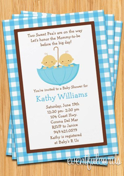 Twins Baby Shower Invitation Walgreens