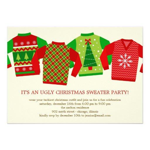 Ugly Christmas Sweater Invitation Ideas