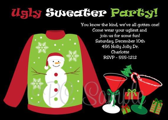 Ugly Sweater Invitation Ideas