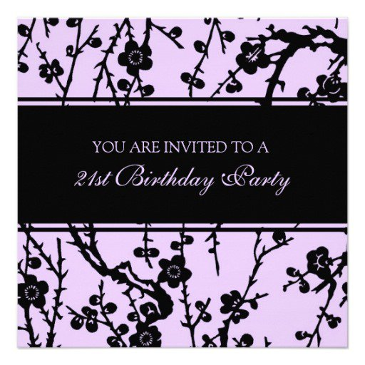 Unique 21st Birthday Party Invitations