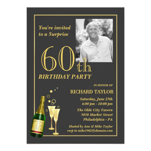Unique 60th Birthday Invitations