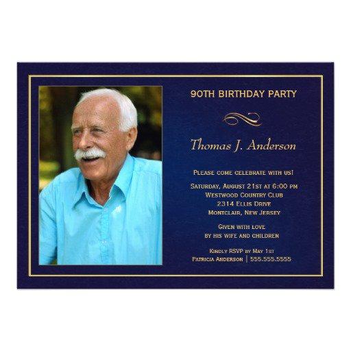 Unique 90th Birthday Invitations