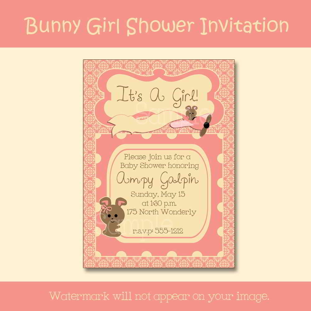 Unique Baby Shower Invitations Girl