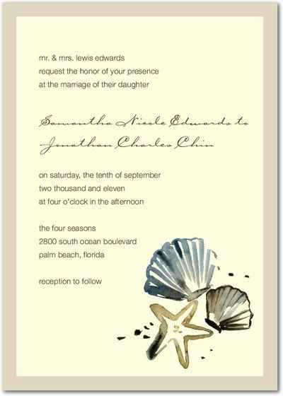 Unique Beach Wedding Invitation Wording