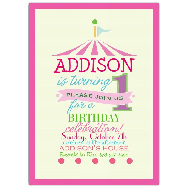 Unique Birthday Invitations Circus