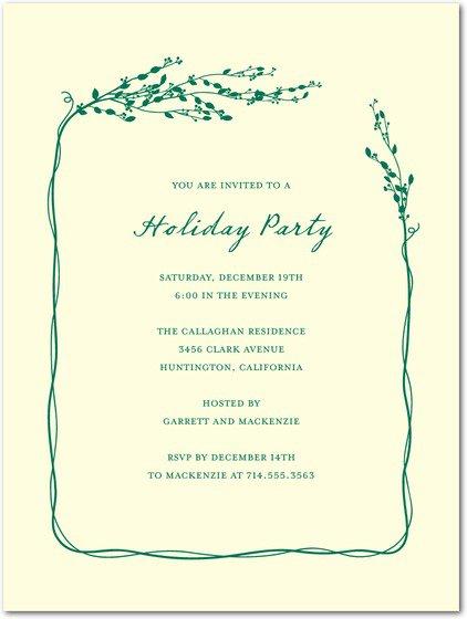 Unique Christmas Party Invitation Ideas