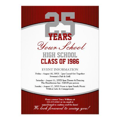 Unique Class Reunion Invitations