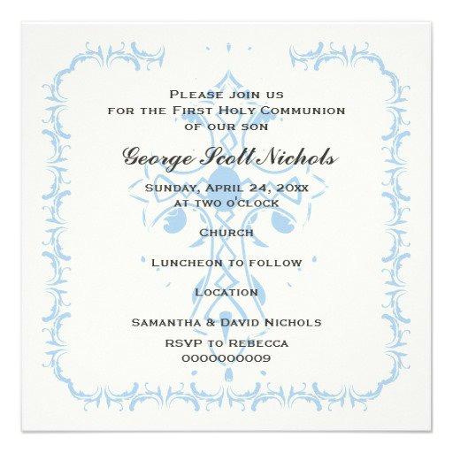 Unique Communion Invitations