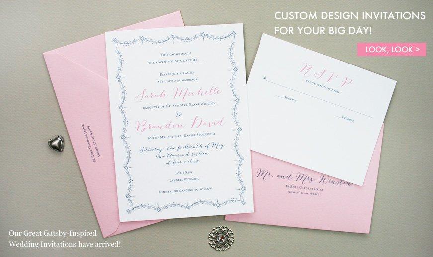 Unique Handmade Wedding Invitations