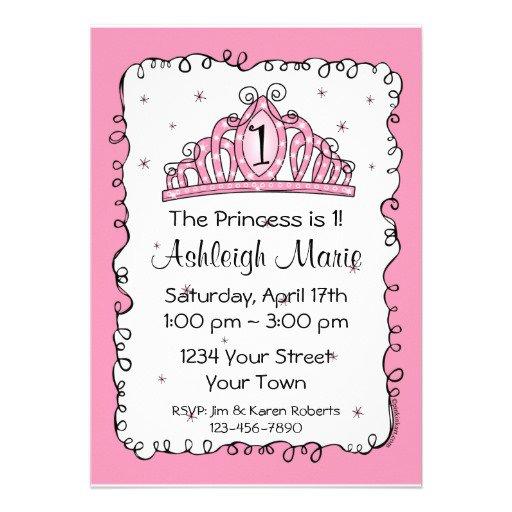 Unique Princess Birthday Party Invitations