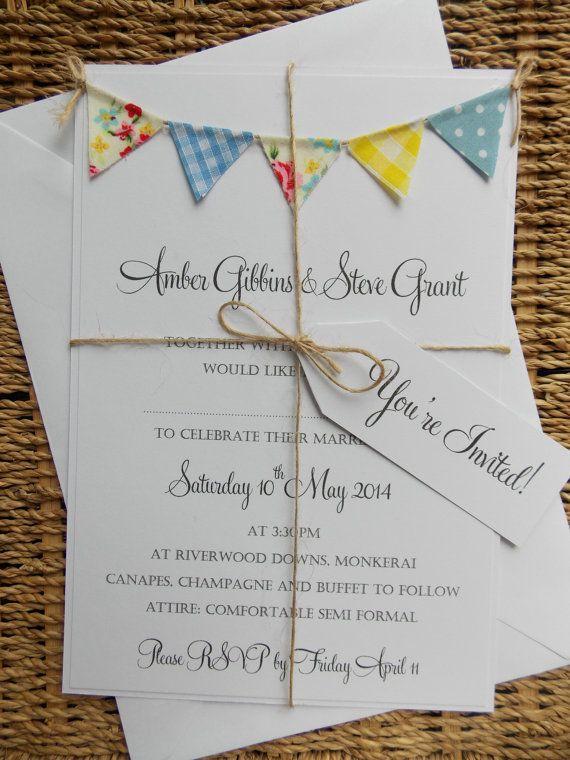 Unusual Vintage Wedding Invitations