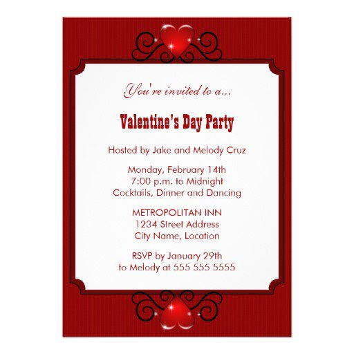 Valentine Dinner Party Invitations