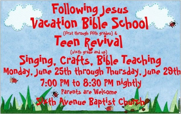 Vbs Invitation Letter To Parents