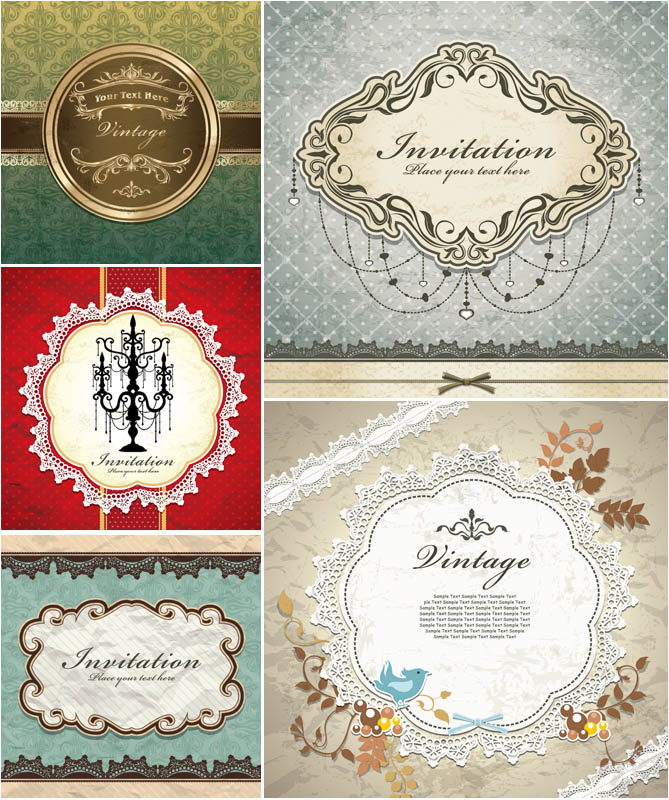 Vector-elegant-invitation-cards-with-birds