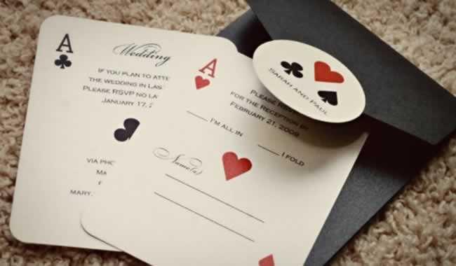 Vegas Style Wedding Invitations