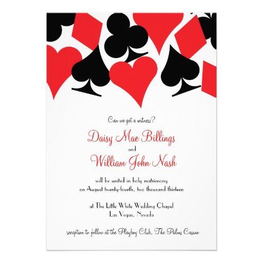 Vegas Wedding Invitation Templates