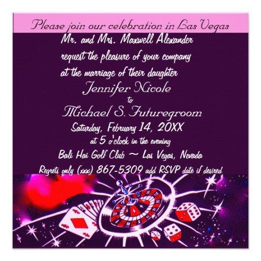 Vegas Wedding Invitations Designs