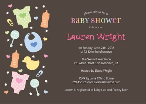 Very Unique Baby Shower Invitations