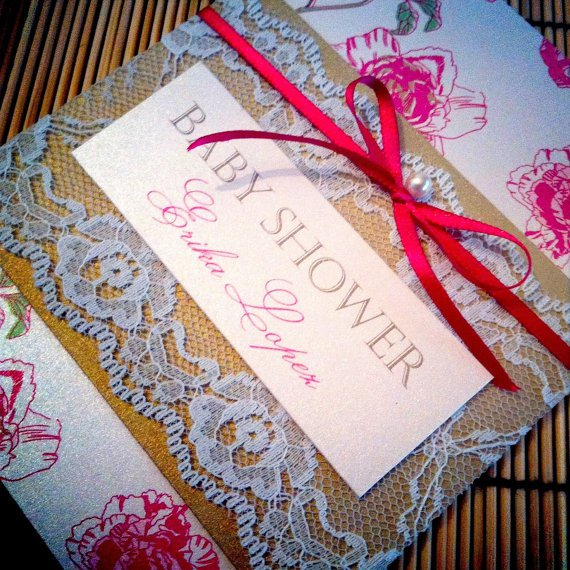 Victorian Style Baby Shower Invitations
