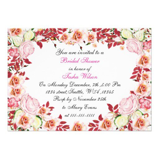 Victorian Tea Bridal Shower Invitations