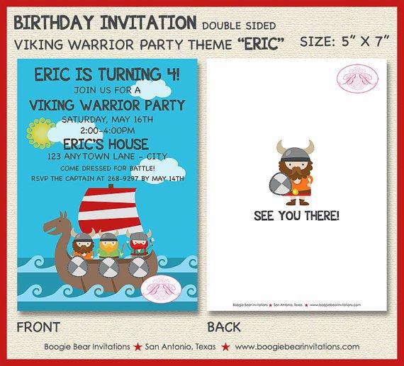 Vikings 1st Birthday Invitation