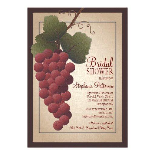 Vineyard Bridal Shower Invitations