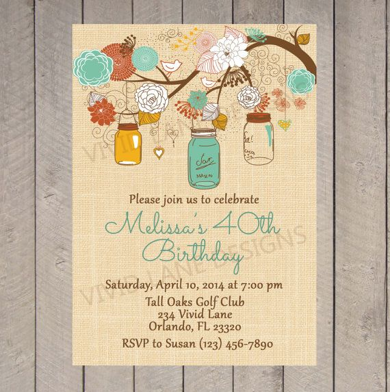 Vintage 85th Birthday Invitations