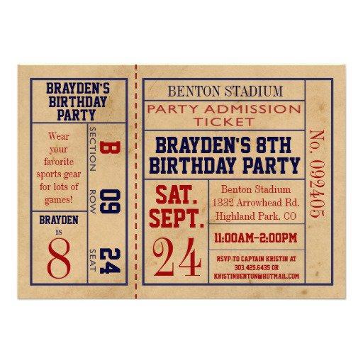 Vintage Birthday Invitation Template