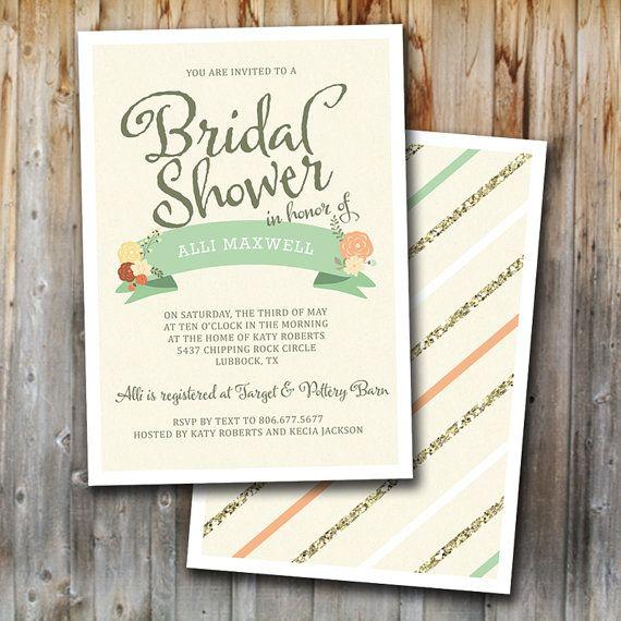 Vintage Bridal Brunch Invitations