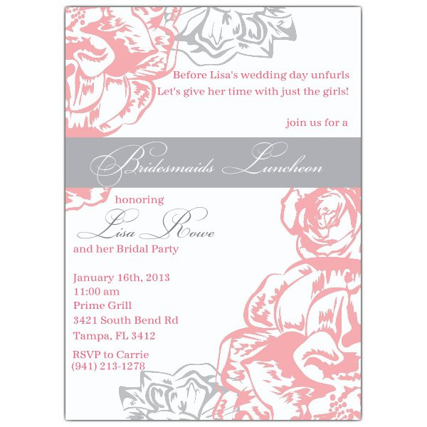 Vintage Bridesmaids Luncheon Invitations